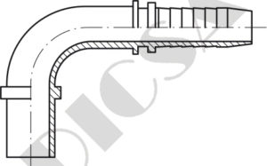 Gas Tube Standpipes - 90º Elbow
